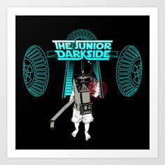 The Junior Dark Side Art Print by YouDrewDesign - $16.64 Keep checking back to see more of my work!