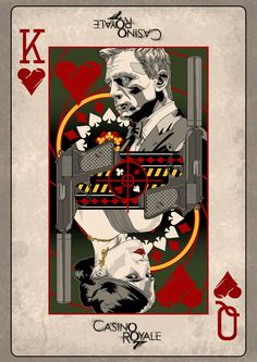 """Casino Royale"" by Darren Tibbles. More fan art of Bond. Vintage Cartoon, Retro Vintage, 007 Casino Royale, Fantasy Anime, Tachisme, Bond Cars, James Bond Movies, James Bond Movie Posters, Best Movie Posters"
