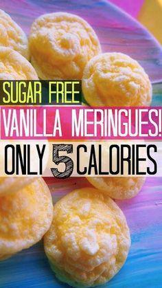 Sugar free vanilla meringue only 5 calories