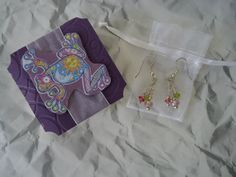 Clustered earrings and matching gift box $8 for the set (+S)