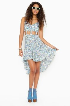 Nastygal Floral Cutout Dress - $30