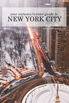 Awesome picture and an Autumn/Winter Guide to New York City -- personally my favourite time to visit, especially Christmas time.