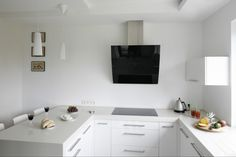 Znalezione obrazy dla zapytania kuchnia bez górnych szafek Double Vanity, Bathroom Lighting, Interior, Kitchen, Furniture, Asia, Home Decor, Drawing Rooms, Cooking