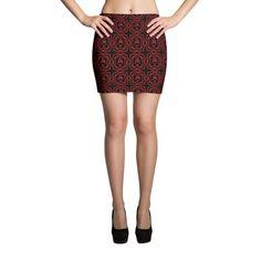 Root Chakra Black Mini Skirt - Fook Yes!