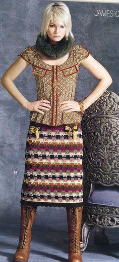 Вязаные юбки со схемами и описанием от зарубежных дизайнеров - страница 2