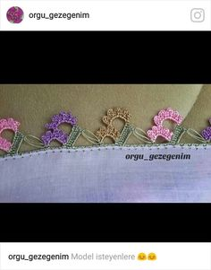 Oyalarim Crochet Ruffle, Crochet Trim, Crochet Flowers, Cable Knit Hat, Book Quilt, Needle Lace, Knitted Throws, Applique Quilts, Knitting Patterns Free