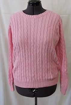 Lilly Pulitzer Women Pink Cable Knit Sweater Size L