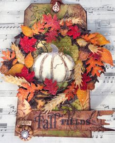 """M.E. and My Walk on the Creative Side: Preview """"I'm Back with Tim ... Holtz 12 Tags of 2013 -- October Tag"""""""
