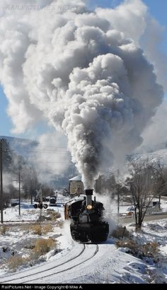 Smoke & Steam ~ Classic Look ~ DSNG 473 Durango & Silverton Narrow Gauge Railroad Steam at Durango, Colorado by Mike A. Bullet Jewelry, Geek Jewelry, Gothic Jewelry, Metal Jewelry, Jewelry Necklaces, Rail Train, Old Train Station, Durango Colorado, Rail Transport