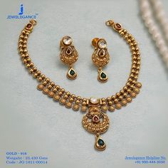 Gold 916 Premium Design Get in touch with us on Gold Bangles Design, Gold Earrings Designs, Gold Jewellery Design, Necklace Designs, Handmade Jewellery, Designer Jewelry, Silver Jewellery Indian, Royal Jewelry, Silver Jewelry