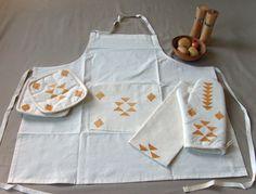 Handmade Tribal Minimalist Kitchen Apron by Yaansoon on Etsy