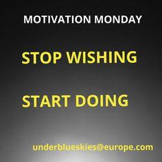 Company Logo, Stop Wishing Start Doing, Monday Motivation, Logos, Blue, A Logo, Logo, Legos