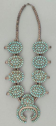turquoise squash blossom necklace.
