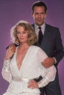 Bruce Willis (David Addison Jr.) and Cybill Shepherd (Madelyn 'Maddie' Hayes) in Moonlighting  (TV Series 1985–1989).