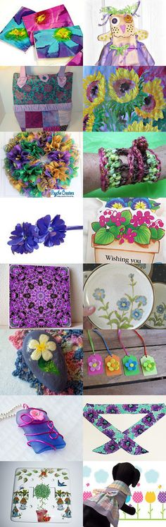 Flower Garden Dreams by Cindy Broadwater on Etsy--Pinned with TreasuryPin.com