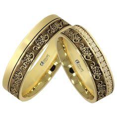 Verighete ATCOM Lux MURANO aur galben Engraved Rings, Indian Jewelry, Band Rings, Dream Wedding, Bangles, Wedding Rings, Engagement Rings, Stone, Lady