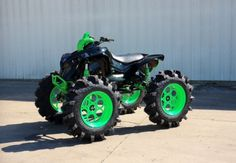 Can am renegade sittin on superior traction tires and custom rims