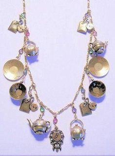 Charm Bracelet Necklace Keychain Tea Bag Tea Time Tea Jewelry gift for Girls Women Teapot Teapot Kettle charm