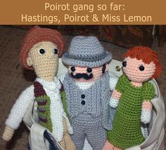 The Poirot Gang thus far (with hats) by Julia Cate Handmade, via Flickr