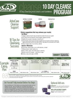 Great Guide for the Cleanse   https://www.advocare.com/150227272/Mobile/Default.aspx