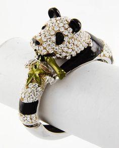 Crystal Panda Bracelet on Emma Stine Limited