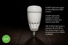 Some tech specs of a SVET light bulb you should know!  If you have any questions please feel free to contact us at info@svet.io