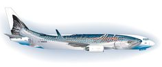 """One of our favorite airplane paint jobs was Alaska Airlines' """" Salmon-Thirty-Salmon ,"""" rolled out in 2005. Sadly, Alaska repainted that Boeing 737-400 in its traditional Eskimo scheme last year."""