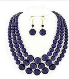 Cobalt blue pearl set
