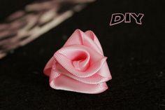 Rosa con cinta facillisima. Diy ribbon rose.