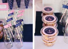 Preppy + Girly Nautical 1st Birthday Party - Kara's Party Ideas - The Place for All Things Party