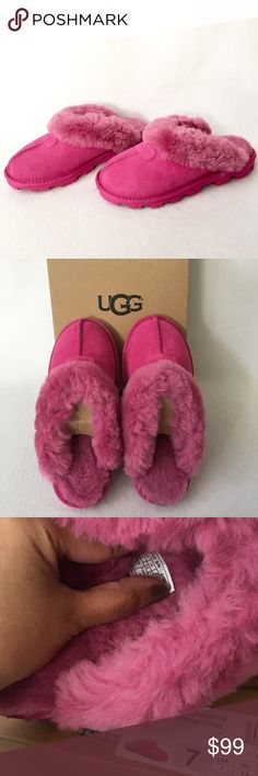 Authentic Pink UGG Sandals 100 AUTHENTIC. Gorgeous pink sandals from Ugg. Very soft and very comfortable. Size 7. New w/ tag attached to the box. UGG Shoes Sandals