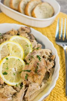 Marlene's Creamy Lemon Chicken Thighs | AllFreeSlowCookerRecipes.com