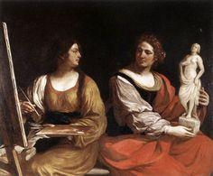 Guercino Allegoria pittura scultura - Palacio Barberini