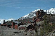 msn.com travel/summer vacation American ghost towns you can visit...Kennecott,Alaska old copper ore mining town. Nat'l Forest Dept has a souvenir  shop in the general store.