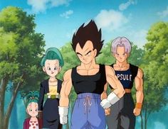 Bulla, Bulma, Vegeta, Trunks  One Happy Family xD
