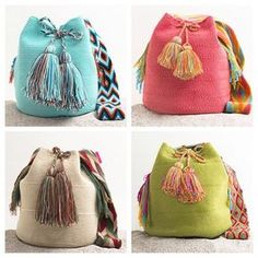 #Handmade Wayuu Mochila #Bags www.wayuutribe.com $149.00