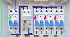 Cuadro eléctrico Electrical Engineering Books, Basic Electrical Wiring, Electrical Circuit Diagram, Electrical Symbols, Electrical Plan, Light Switch Wiring, Joker Hd Wallpaper, Breaker Box, Building Foundation