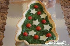 Christmas Tree Tart with Spinach (Tarta cu Spanac in Forma de Brad)