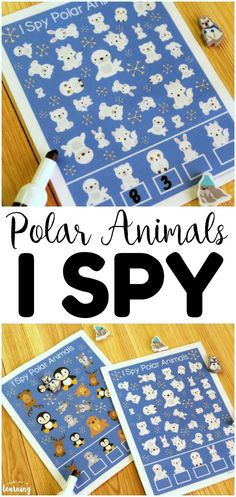 Art therapy activities printables This Polar Animals I Spy Activity is a great addition to a preschool busy bag! Two different levels of difficulty for early learners! Art Therapy Activities, Fun Activities, Therapy Ideas, Toddler Activities, Winter Activities For Kids, Christmas Crafts For Kids, Preschool Themes, Classroom Themes, Polar Animals