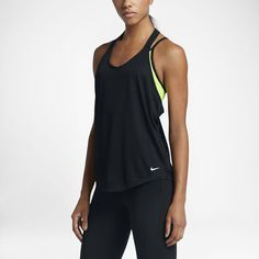 104026b398e8 Nike Elastika Solid Women s Training Tank Top Size Medium (Black) -  Clearance Sale