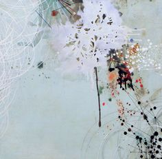 REED DANZIGER, SEMIDEFINITE MOTION NO. 2 2011: oil, graphite, and mixed media on paper on panel.