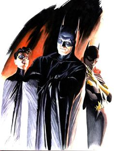 Bat-family by Alex Ross. Today is my birthday! On the past two years, I shared this very favorite piece of comics art to celebrate and say thank you for the milestones of 100 and then 400 followers. Well, you lovely people have done it again, just recently giving this blog over 700 followers! Thank you all!