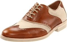 Johnston and Murphy Dolby wingtip saddle oxford.