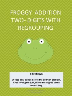 Here's a set of materials for practicing two-digit addition with regrouping.