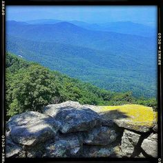 """Blue Ridge Mountain view from Lynchburg, VA -- my """"home away from home"""" growing up. As a teenager I wanted to live there -- really thought I would someday.  Loved visiting relatives there every summer."""