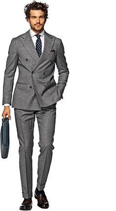 Costume gris unicolore soho - suitsupply nice suits, suits you, school fash Dress Suits For Men, Suit And Tie, Men Dress, Mode Masculine, Mens Fashion Suits, Mens Suits, Mode Bcbg, Business Outfit, Formal Suits