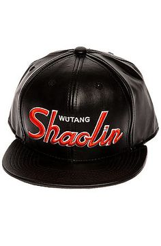 The Shaolin Vegan Leather Hat in Black by Wutang Brand Limited use rep code: OLIVE for 20% off!