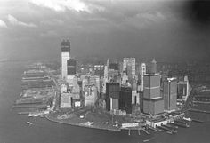 New York City, Lower Manhattan, the construction of the World Trade Center, 1970