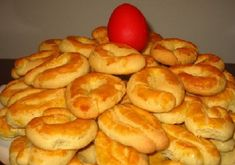 Easter Biscuits, Greek Desserts, Onion Rings, Bagel, Cookie Recipes, Sweets, Cookies, Ethnic Recipes, Food