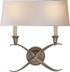 2 Light Cross Bouillotte Sconce - CHD1191  Maybe a Hall? Not sure which finish I love best